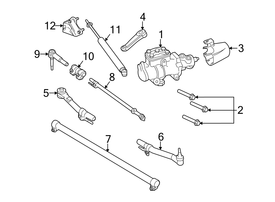 Ford F-250 Super Duty Steering Tie Rod End Adjusting