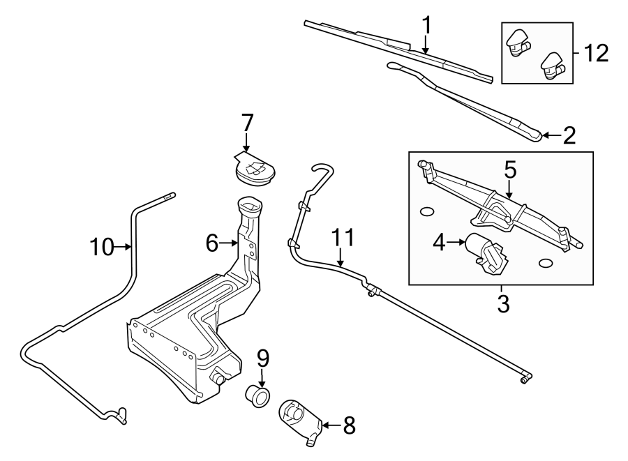 Ford F-250 Super Duty Windshield Wiper Linkage