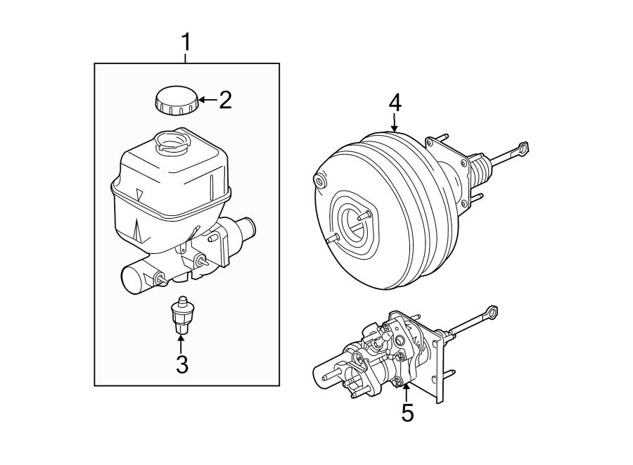2016 Ford F-350 Super Duty Brake Master Cylinder. CYLINDER