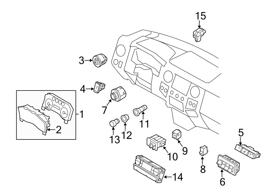 2015 Ford F-250 Super Duty Dash control unit. Heater