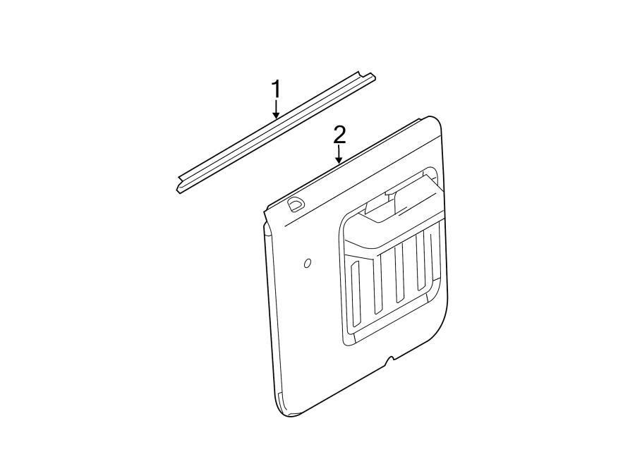 Ford F-250 Super Duty Door Interior Trim Panel (Rear