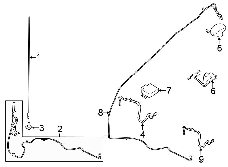 Ford F-250 Super Duty Gps navigation system antenna. Sync