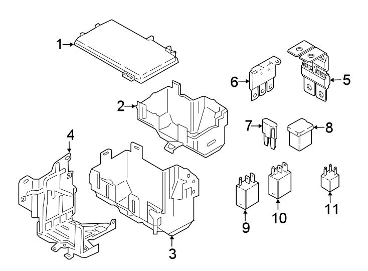 Ford F-250 Super Duty Circuit breaker assembly. Mini fuse