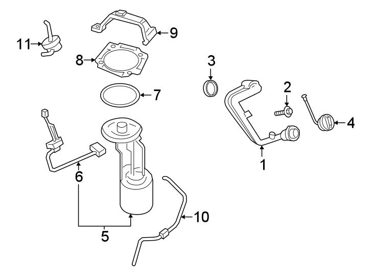 Ford F-250 Super Duty Fuel Filler Neck. 6.2 LITER, 142