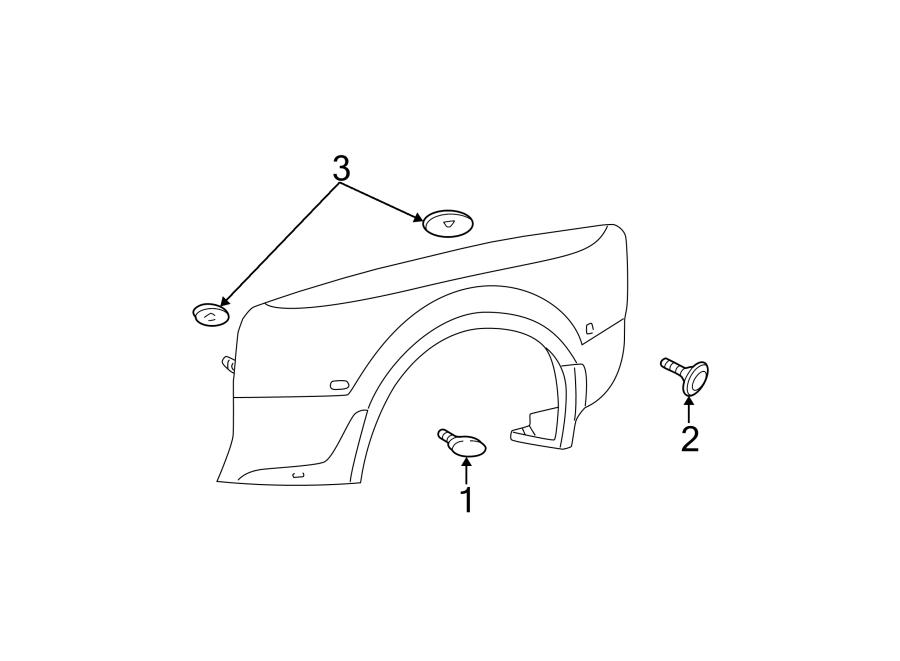 Ford F-550 Super Duty Side Marker Light. Amber (front). W