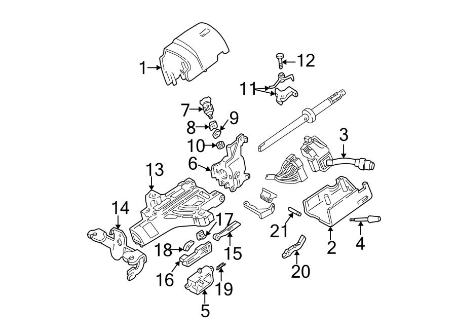 Ford F-250 Super Duty Steering Column Tilt Adjuster. F350