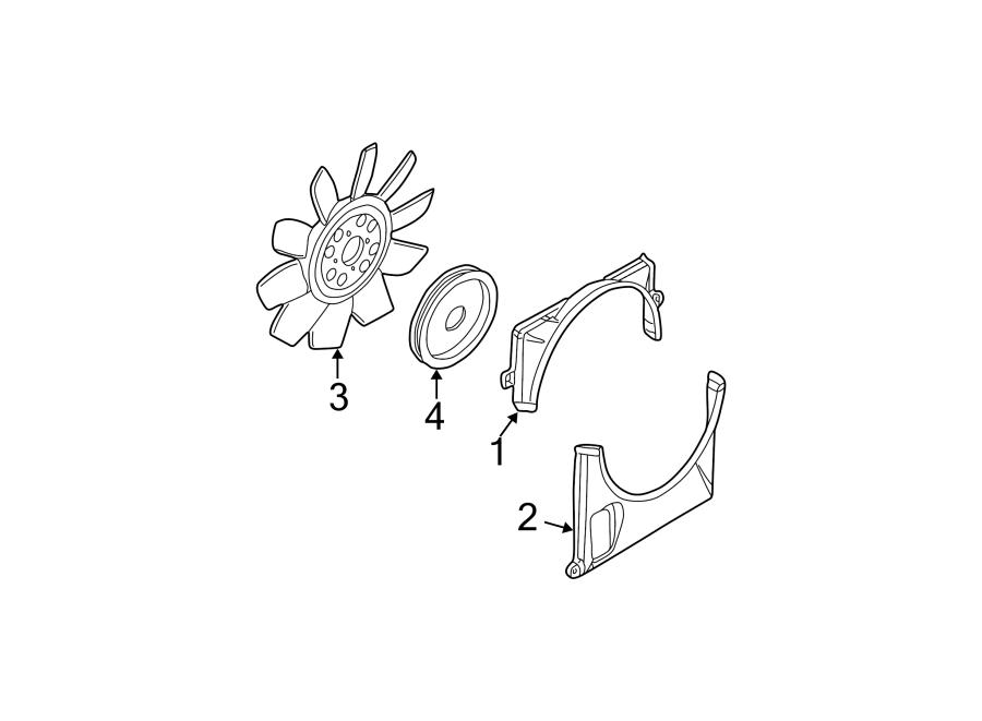 Ford Explorer Engine Cooling Fan Shroud (Upper