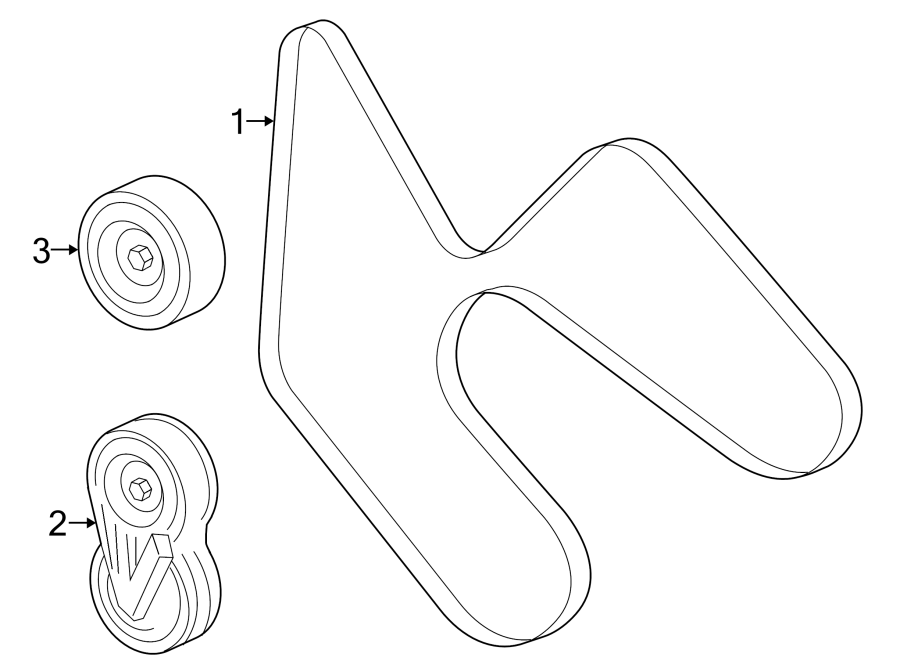 Ford Explorer Accessory Drive Belt Tensioner Assembly