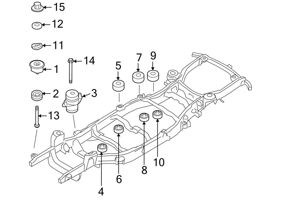 Ford Explorer Body Mount Cushion (Upper). Rear body, upper