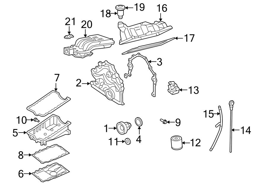 Ford Explorer Engine Crankshaft Seal. LITER, HEAD, OVER