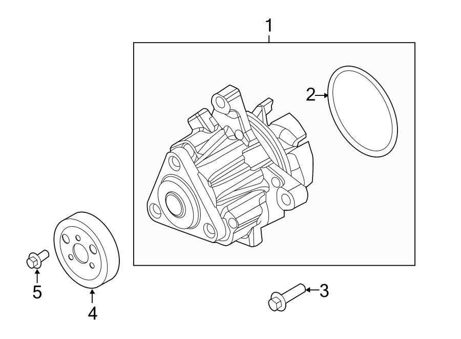 Ford Explorer Engine Water Pump. LITER, DOHC, Hybrid