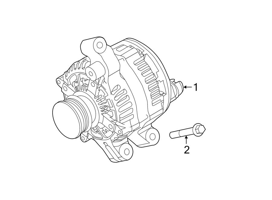 Ford Explorer Bolt. Mount. Alternator. Damper. Engine. 2.0