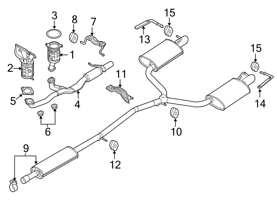 2012 Ford Explorer Bracket. Muffler. Hanger. Pipe. (Front