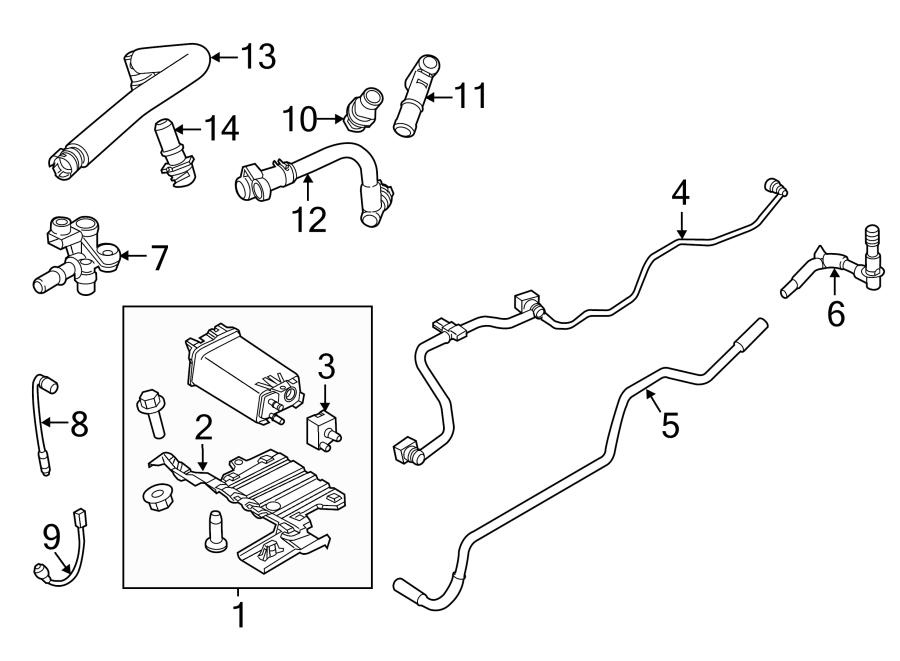 2014 Ford Explorer Oxygen Sensor (Front, Upper). LITER