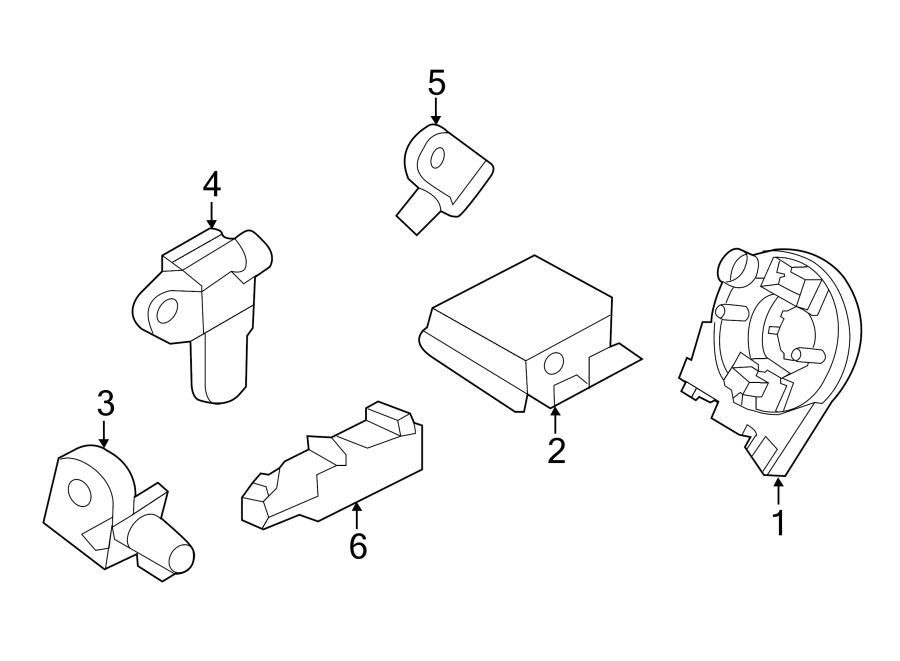 Ford Explorer Air Bag Impact Sensor (Front). MODULES
