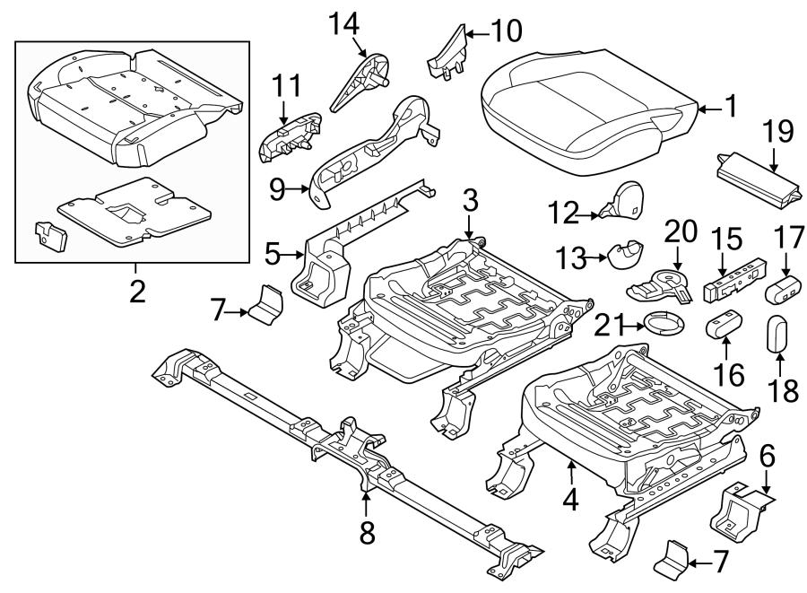 2014 Ford Explorer Seat Back Recliner Adjustment Handle