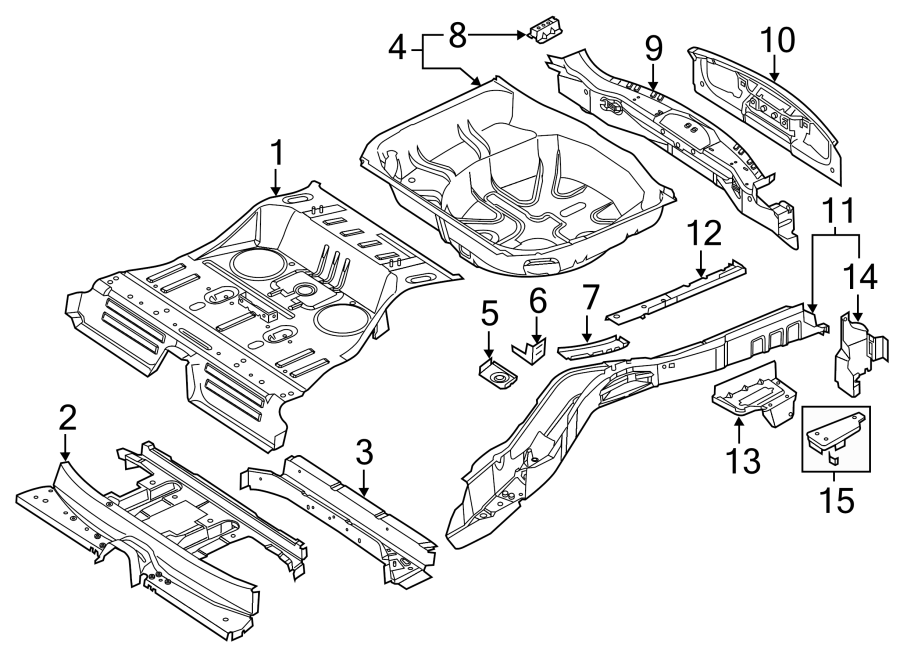 Ford Explorer Floor. Pan. ASSEMBLY. Rear. INTERCEPTOR