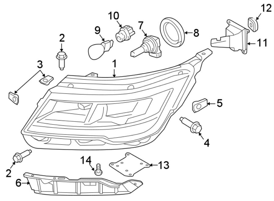2016 Ford Explorer Headlight. FULL, LED, LAMPS