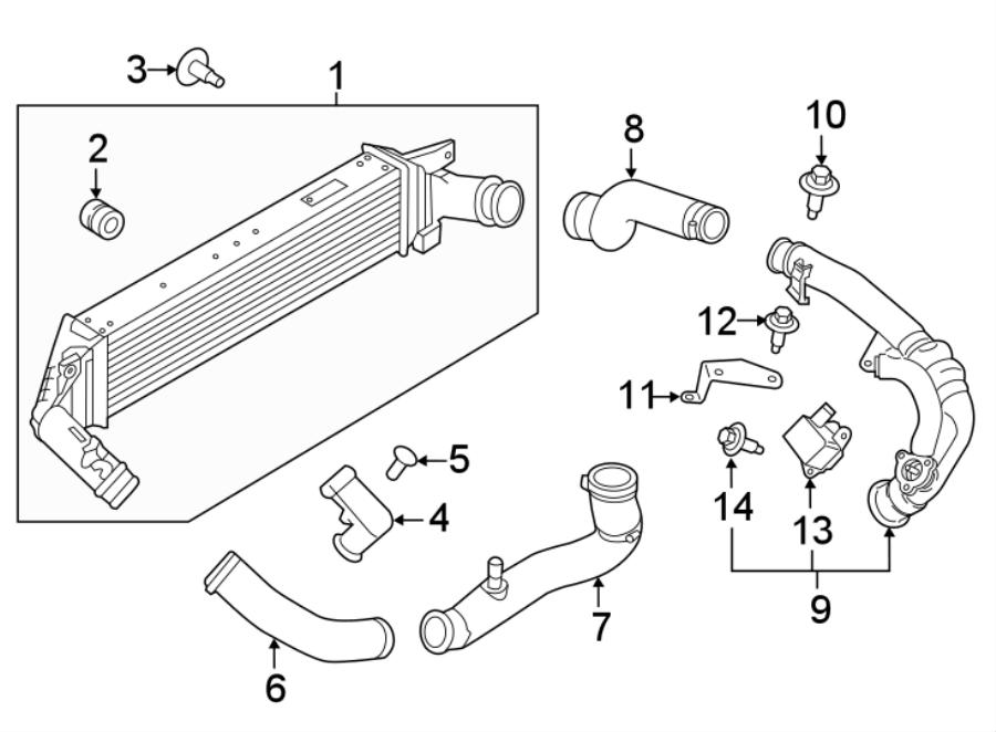 2016 Ford Explorer Intercooler. LITER, Acceleration
