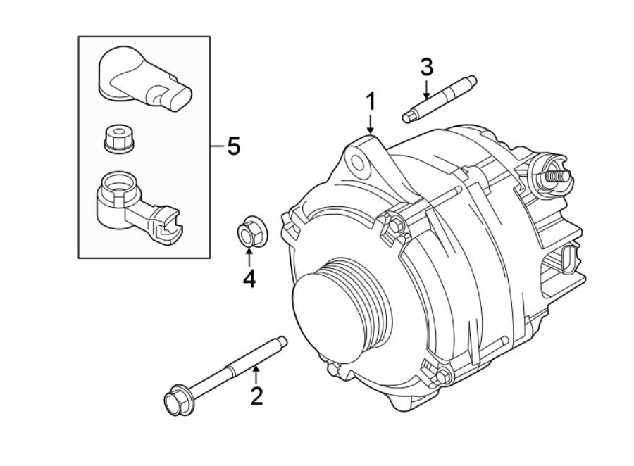 2016 Ford Explorer Alternator. Amp, LITER, NON