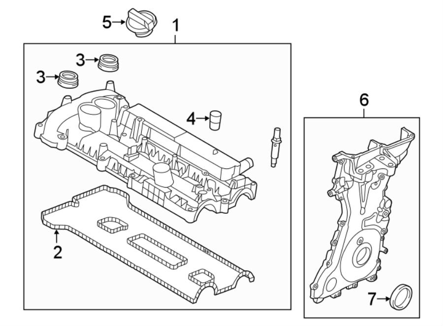 2016 Ford Explorer Gasket. Cover. Valve. Engine. Set