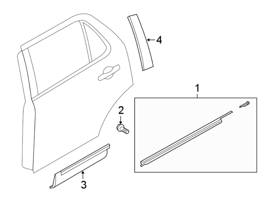 2016 Ford Explorer Door Molding (Rear, Lower). Insert