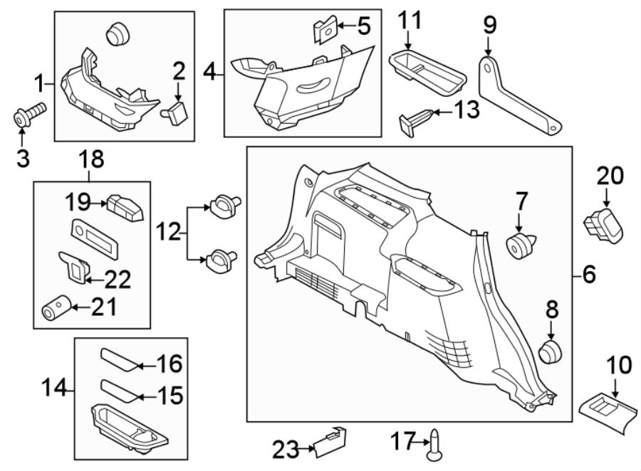 2016 Ford Explorer Quarter Panel Trim Panel Clip (Front