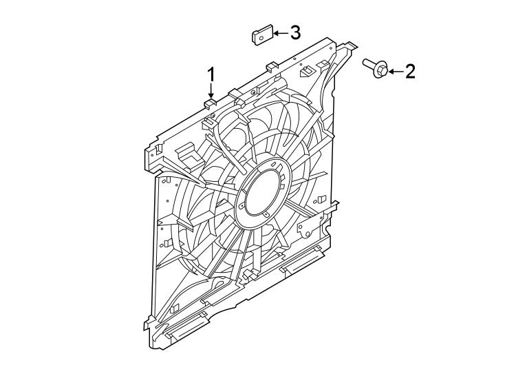 Ford Explorer Engine Cooling Fan Shroud. 2.3 LITER