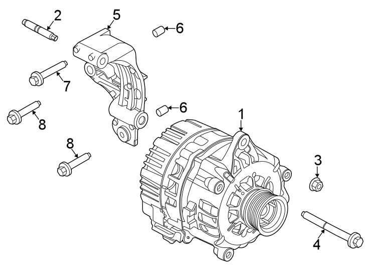 Ford Explorer Alternator Stud. 3.0 LITER. 3.3 LITER HEV. W