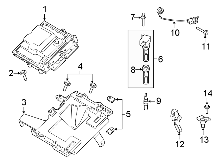 Ford Explorer Direct Ignition Coil. Coil Assembly