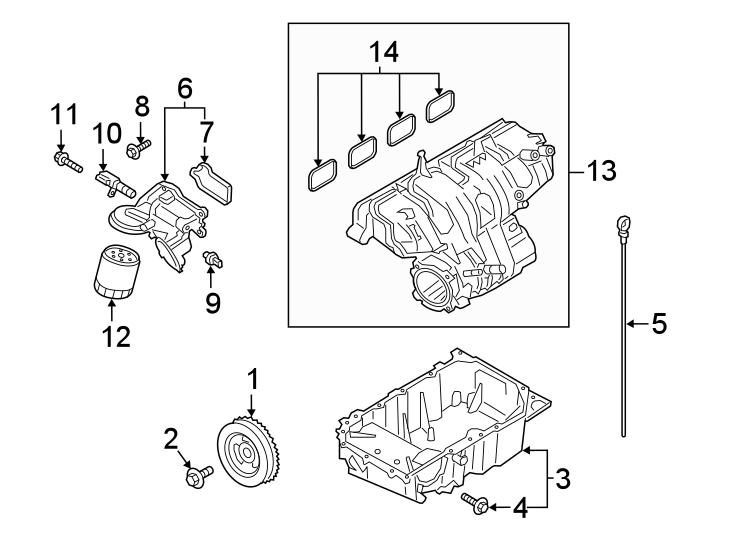 Ford Explorer Engine Camshaft Position Sensor Bolt. 2.0