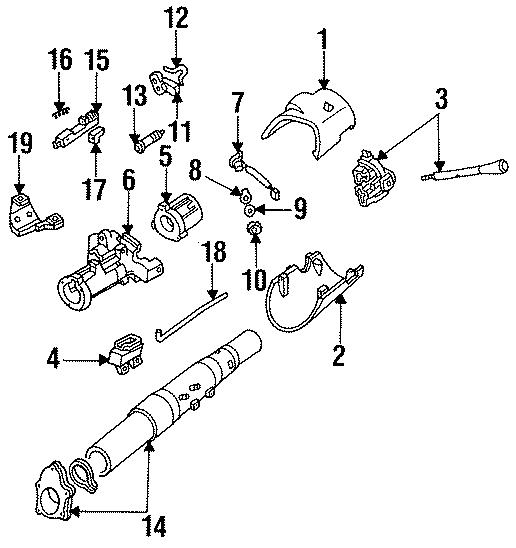 1986 Ford F-150 Ignition Switch. WHEEL, TILT, STEERING
