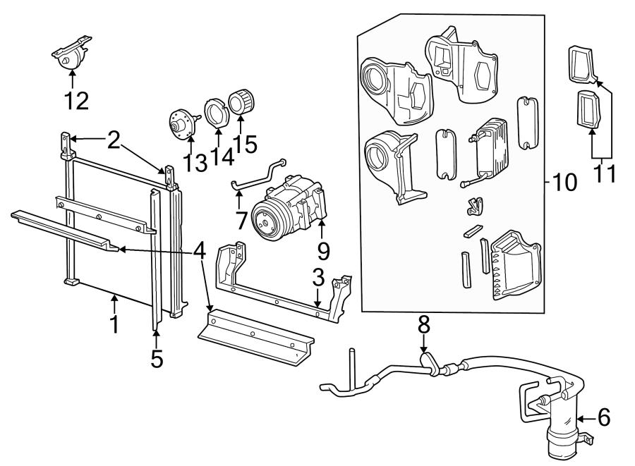 Ford Explorer A/c evaporator core vacuum reservoir. 1995