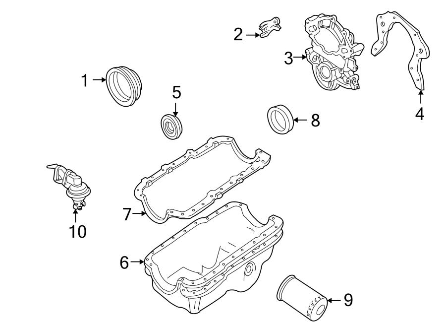 Ford Explorer Engine Oil Pan Gasket (Upper, Lower