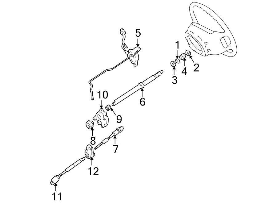 Ford Explorer Mainshaft. Steering. Wheel, tilt