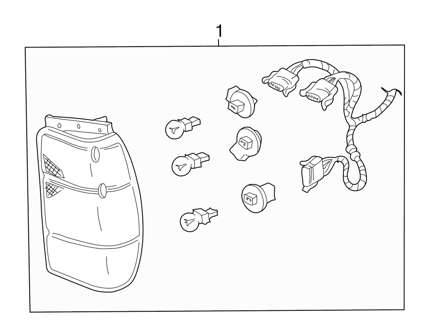 Ford Explorer Tail Light Assembly. 1998-01. Left, LAMPS