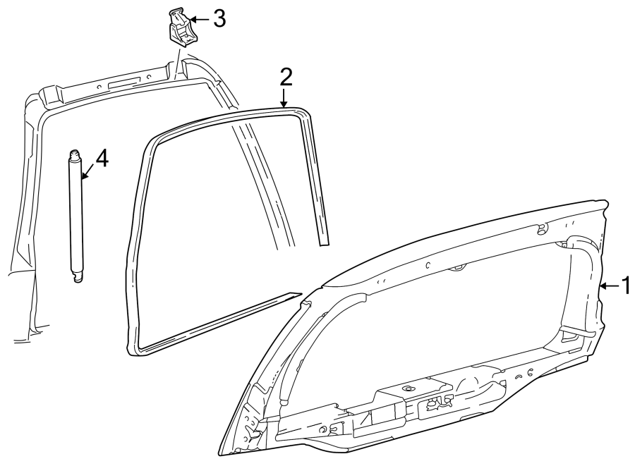 Ford Excursion Hatch Seal (Upper). Weatherstrip, Body