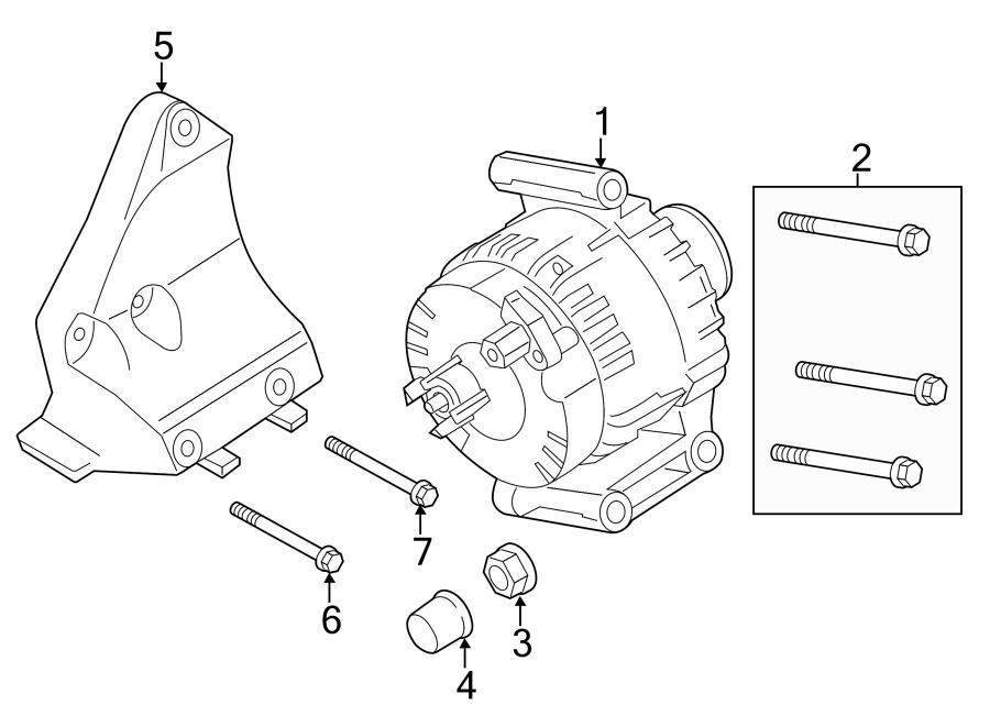 Ford Transit-150 Alternator Bracket Bolt. 3.2 LITER