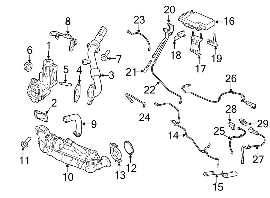 2015 Ford Transit-150 Sensor. Gas. Exhaust. TEMPERA