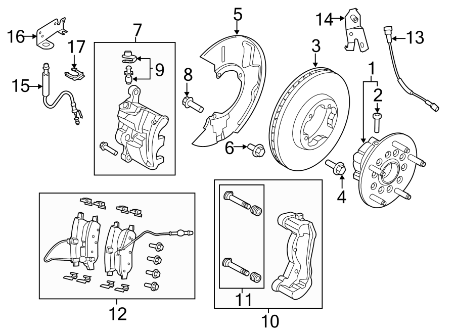 2015 Ford Transit-350 Disc Brake Rotor Bolt. Dual, Rear