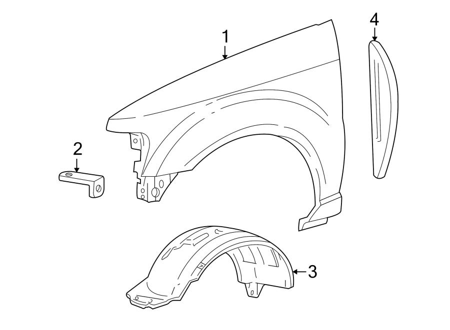 Ford Explorer Sport Trac Fender Splash Shield (Front