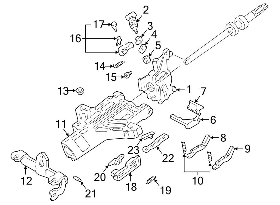 Ford Explorer Sport Trac Actuator cover. WHEEL, WTILT