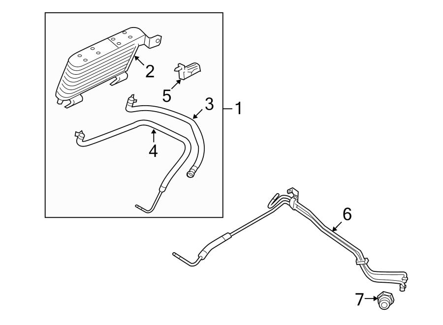 Ford Explorer Sport Trac Clip. Line. Cooler. Oil