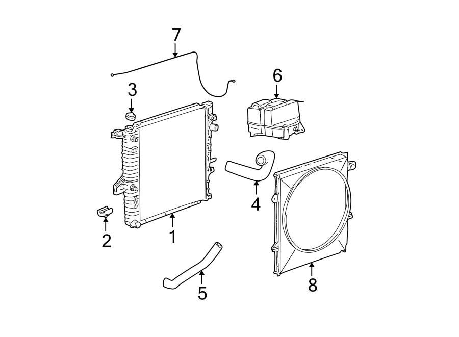 Ford Explorer Sport Radiator Coolant Hose (Lower