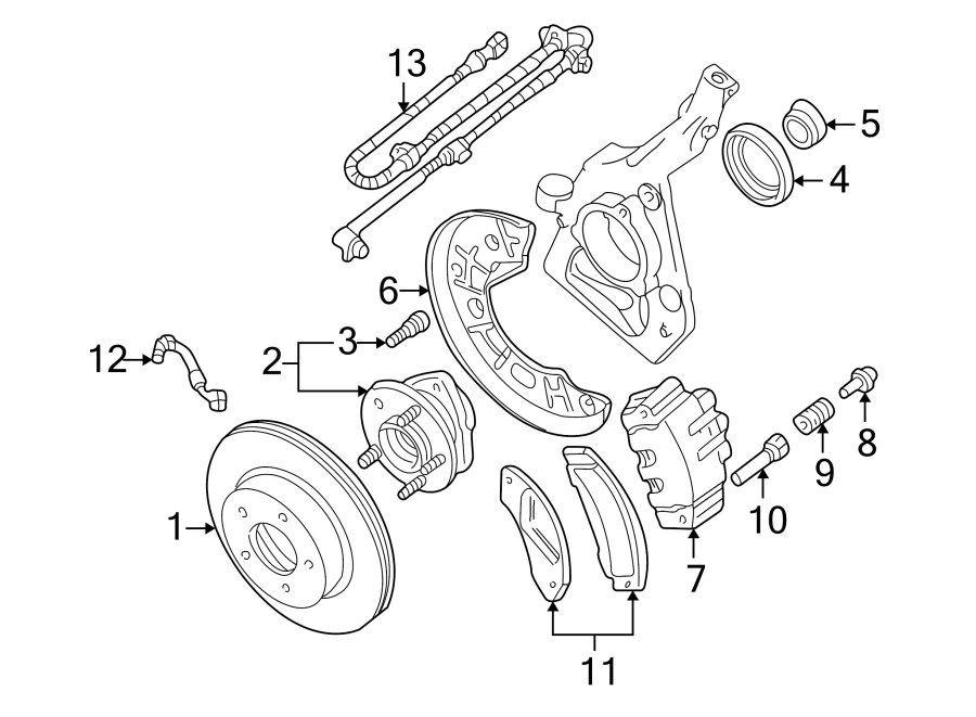 1997 Ford Explorer Caliper. Pin. Mount. Support. Kit