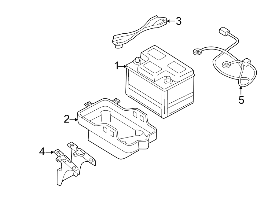 Ford Escape Battery Tray Bracket. CONVENTIONAL