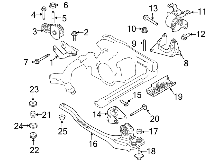 ford escape motor mount diagram