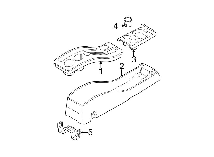 Ford Escape Console Panel. Part includes parking brake