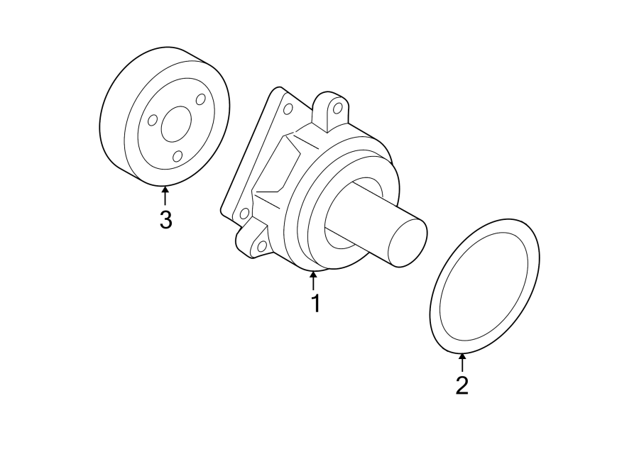 Ford Escape Engine Water Pump Pulley. 2.0 LITER. 2.0 LITER