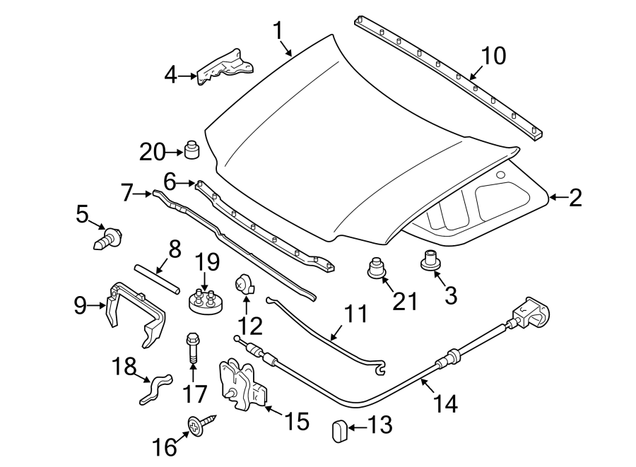 Ford Escape Hood Panel. Hood Panel. Front, COMPONENTS
